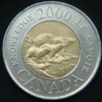 2 доллара 2000 год Канада Путь к знанию