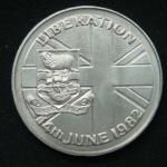 50 пенсов 1982 год Фолклендские острова  Освобождение - 14 июня 1982