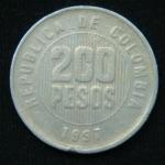 200 песо 1997 год Колумбия