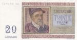 20 франков 1950 год Бельгия