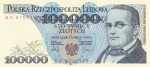 100000 злотых 1990 год