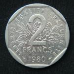 2 франка 1980 года