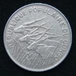 100 франков 1971 год Конго