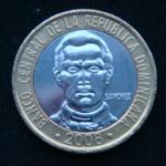 5 песо 2008 год Доминикана