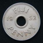 1 пенни 1952 год Фиджи