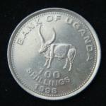 100 шиллингов 1998 год Уганда