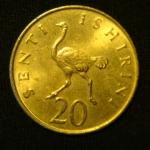20 центов 1982 год Танзания