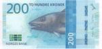 200 крон 2016 года Норвегия