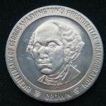 1 крона 1989 год Остров Мэн 200 лет вступлению в должность президента Джорджа Вашингтона /большой портрет/