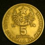 5 угий 1974 год Мавритания