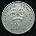 10 франков 1972 год Французская Полинезия