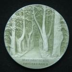 Медаль Михайловское Липовая аллея Пушкин