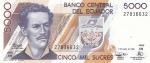 5000 сукре 1999 год Эквадор
