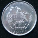 25 центов 2005 год Канада  100 лет провинции Саскачеван