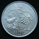 25 центов 2000 год Квотер штата Южная Каролина