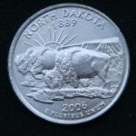 25 центов 2006 год Квотер штата Северная Дакота