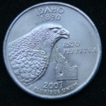 25 центов 2007 год Квотер штата Айдахо