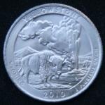 25 центов 2010 год Национальный парк Йеллоустоун