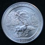 25 центов 2011 год Национальный парк Олимпик