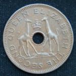 1\2 пенни 1957 год Родезия и Ньясаленд