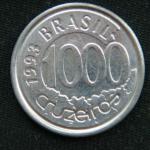1000 крузейро 1993 год Бразилия