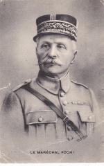 Почтовая карточка  Маршал Фердинанд Фош