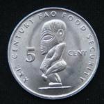 5 центов 2000 год  Острова Кука ФАО
