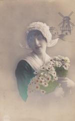 Почтовая карточка  1920 год  Нидерланды