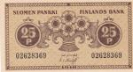 25 пенни 1918 года Финляндия