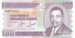 100 франков 2011 года  Бурунди