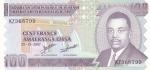 100 франков 2007 года Бурунди