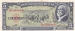 5 песо 1960 года Куба