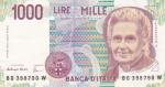 1000 лир 1990 год Италия