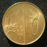 200 лир 1993 год  Сан-Марино