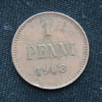 1 пенни 1908 год